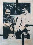 Meinen Lehrern gewidmet (Moderne Helden), 2010, Acryl.a. Lwd., 57 x 42 cm (HCO-0088-10