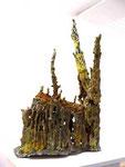 """Dom"", 2006 Bronze verlorener Guß, bemalt, ca. 130x80x45cm, (sold)"