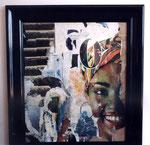 """""""Exotica"""", 1962 Decollage 73 x 61 cm"""