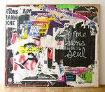 """""""7, rue aux ours"""", 1983 Décollage 113 x 130 cm"""