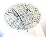 """Orenda"", 2005 Messing u. Phosphorbronze 30 x 55 x 55 cm (sold)"