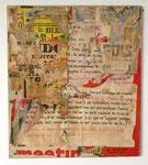 """""""Rue du Bac, 7 décembre 1974"""", 1974 Décollage 61 x 54 cm (Sold)"""
