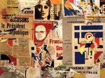 """""""Rue Brisemiche ( Fernand Léger ) 21. Fevr. 1973"""", 1973 Décollage, Plakatabrisse auf Leinwand 118 x 158 cm"""