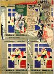 """""""Rue Brisemiche ( Fernand Léger ) 21. Fevr. 1973"""", Décollage, Plakatabrisse auf Leinwand 195 x 130 cm"""