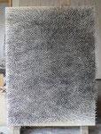 """""""Energiefeld (Wind)"""", 2009, Nägel auf farbigem Grund (Nessel) auf Holzplatte 200 x 150 cm (Sold)"""