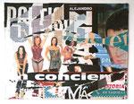 """Barcelone ""Spice Girls"", 9 mars 2000"", 2000 Décollage 90,5 x 117 cm"