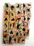 """""""Selbstportrait"""", 2000-2006 Pappmachè, Leim, Farbe, Leinen, 100 x 65 x 8 cm, (sold)"""