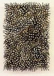 """""""Feld"""", 1997, Nägel und Dispersionsfarbe auf Leinwand auf Holz 60 x 40 cm (sold)"""