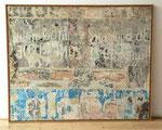 """Au 136 du Boulevard St-Germain, zone bleue"", 1966 Décollage auf Leinwand 130 x 162 cm"
