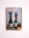 """Saufdilemma"", 2006 Foto, Acryl, Hartfaserplatte 31,5 x 22 cm"