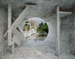 """""""Asama blanc"""" Farbfotografie auf Aluminium"""