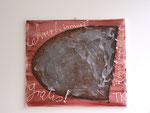 """""""Im Hombroicher Lehrerhimmel (Schmalzstulle umsonst)"""", 2006 Acryl und Silikon auf Leinwand 60 x 70 cm"""