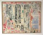 """""""Entre-Deux-Mers"""", 1971 Papierdécollage auf Leinwand 81 x 100 cm (Sold)"""
