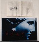 """""""O Epos"""" 1987 Lichtkasten, Buch, Blattgold 70x60x8cm"""