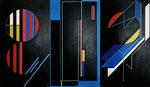 Rouages - A13V11- Traces A23V11- Rouages A33V11- 41x72 cm