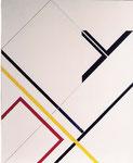L'OBLIQUE JAUNE - 100 x 81 cm