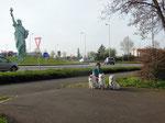 Der Erbauer der Freiheitsstatue stammt aus Colmar, ihm ist hier ein Denkmal gesetzt.