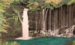 白糸の滝 M8号 紙本彩色 ©INOUE KIYOHARU