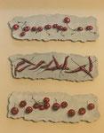 白地に赤のコンポジット 変4号 (041) acrylgouache and acrylic or oil on paper    ©USHIDA ATSUMI