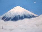 月光富士 P10号 紙本彩色 ©INOUE KIYOHARU