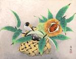 秋果小禽 F6号 紙本彩色 ©INOUE KIYOHARU