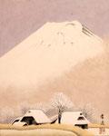 里の富士 F3号 紙本彩色 ©INOUE KIYOHARU