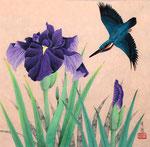 菖蒲小禽 変4号 紙本彩色 ©INOUE KIYOHARU