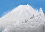 凍てる富士 M15号 紙本彩色 ©INOUE KIYOHARU