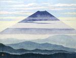 霞む富士 P10号 紙本彩色 ©INOUE KIYOHARU