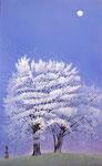 月光散花 M10号 紙本彩色 ©INOUE KIYOHARU