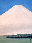 湖上富士 P12号 紙本彩色 ©INOUE KIYOHARU