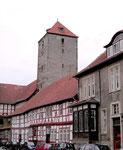 Im Hof der Marienburg mit Bergfried