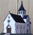 La croix latine orne un assez grand nombre de loquets de portes d'églises.