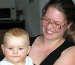 Mika mit Mama Sabine, unsere Nichte