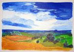 Acryl - Landschaft im Hegau