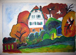 Acryl - Russenhaus in Murnau - nach G.Münter