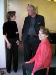 Andrea Förstel mit Frau Pesthy und Gabor