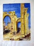 Aquarell - Palmyra - Syrien