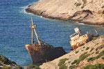 Milos, gestrandetes Frachtschiff