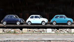 Meran-Finschgau (I) ( Fiat 500 beim Bahnschuppen)