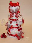 Новогодний торт из памперсов