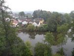 Blick aus einem oberen Fenster der Wasserburg Heidenreichstein - Foto © Ivan Vergner
