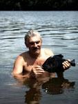 Der Schwarze Piranha (Serrasalmus rhombeus) vom Rio Tefé.