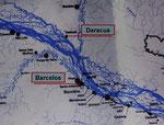 Landkarte vom Rio Negro um Barcelos und Daracuá.