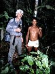 Neo und ich 1987, damals noch etwas ausgehungert und abgemagert bei unserer ersten Regenwaldtour in Santa Cruz.