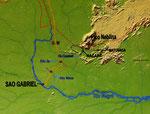 Diese Landkarte bietet einen guten Überblick unserer einwöchigen Tour.