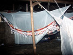 Nachtlager bei den Caboclos (hervorgegangen aus Mischehen zwischen Portugiesen und Indianern) in ihren Hütten.