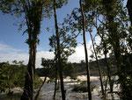 Blick von unserem Lager zum Wasserfall.