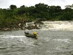 An diesem Wasserfall fischten Tukano-Indios kleine Fische.