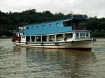 Mit diesem Hausboot waren wir zwei Wochen auf dem Mahakam unterwegs.